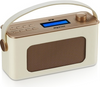 PU Leather Design DAB FM Bluetooth Clock Radio with Handle